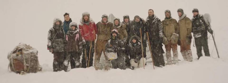 Cast and Crew of Outside on location in Norway