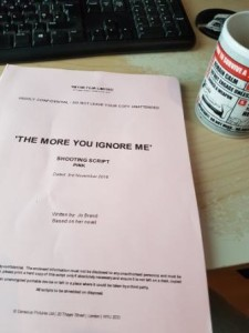 Rod Glenn's shooting script from The More You Ignore Me.