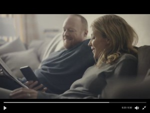 Rod Glenn and Tilly Wood in the new PayPal commercial.