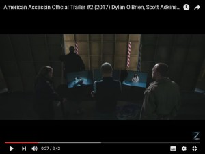 Rod Glenn alongside Michael Keaton in the American Assassin trailer